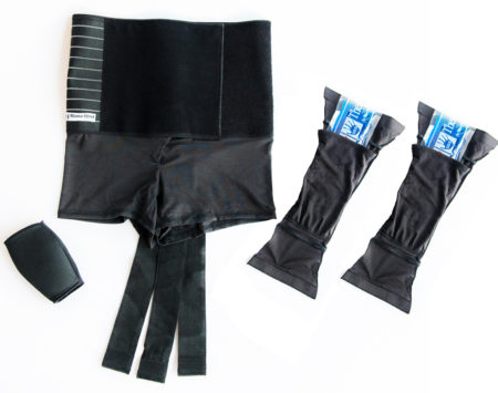 Mama Strut abdominal binder, belly band, back brace, vagina support, perineum ice packs, post birth support system, natural post birth pain relief
